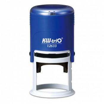 Самонаборный штамп автоматический KW-TRIO 12633-R2,  оттиск 40 мм,  шрифт 3 мм,  2 круга текста,  круглый