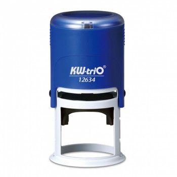 Самонаборный штамп автоматический KW-TRIO 12634-R1,  оттиск 50 мм,  шрифт 3 мм,  1 круг текста,  круглый