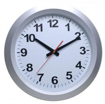 Настенные часы БЮРОКРАТ WallC-R010P, аналоговые,  серебристый