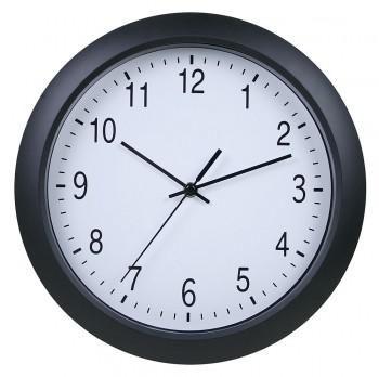Настенные часы БЮРОКРАТ WallC-R02P, аналоговые,  черный