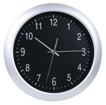 Настенные часы БЮРОКРАТ WallC-R02P, аналоговые,  серебристый