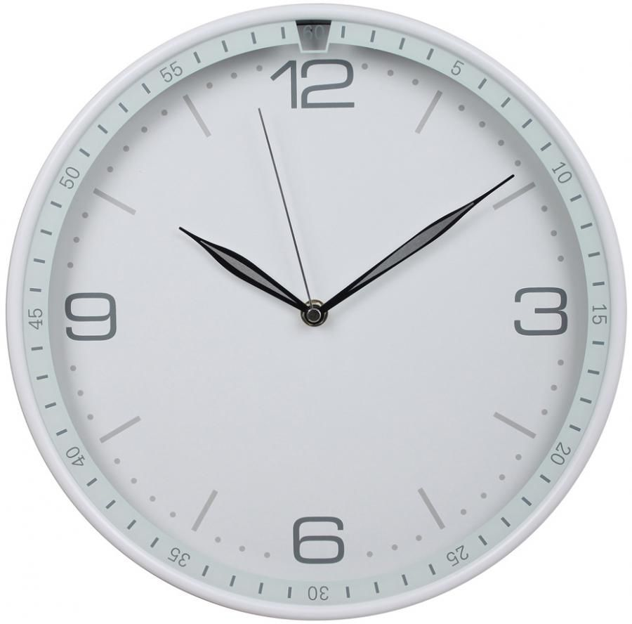 Настенные часы БЮРОКРАТ WallC-R06P, аналоговые,  белый
