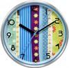 Настенные часы БЮРОКРАТ WallC-R15M, аналоговые,  синий вид 1