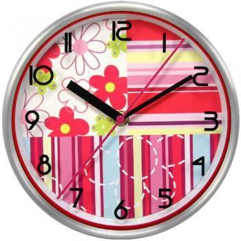 Настенные часы БЮРОКРАТ WallC-R15M, аналоговые,  красный
