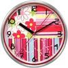 Настенные часы БЮРОКРАТ WallC-R15M, аналоговые,  красный вид 1