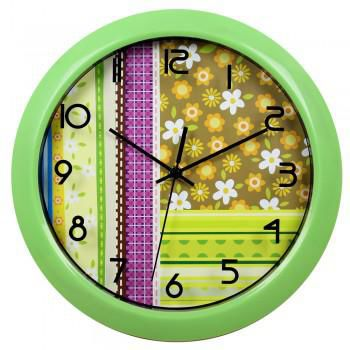 Настенные часы БЮРОКРАТ WallC-R16P, аналоговые,  зеленый