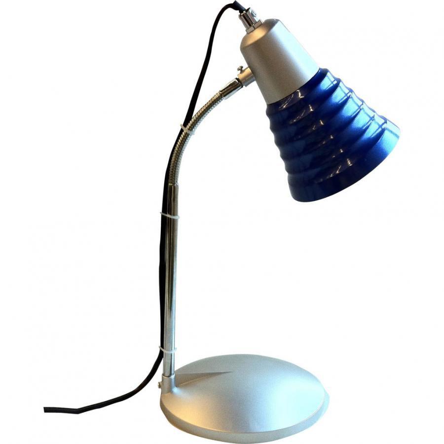 Светильник настольный БЮРОКРАТ BL-050H на подставке,  синий [bl-050h/navy]
