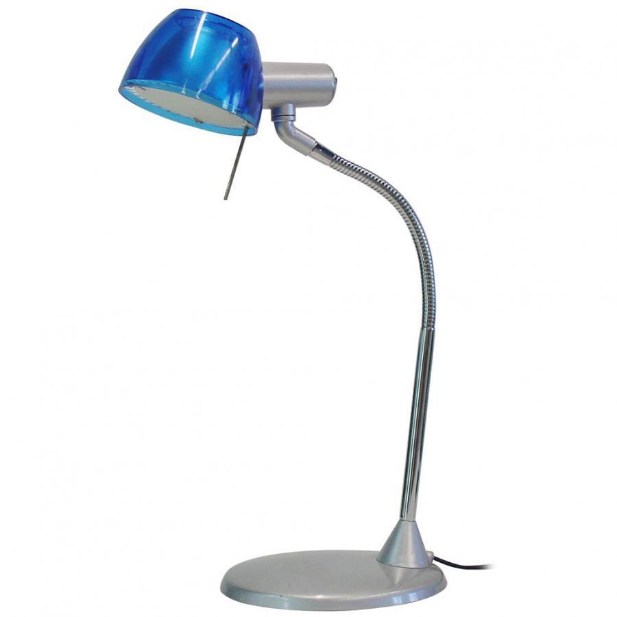 Светильник настольный БЮРОКРАТ BL-070H на подставке,  40Вт,  синий [bl-070h/navy]
