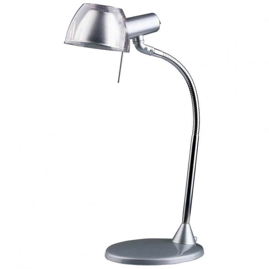 Светильник настольный БЮРОКРАТ BL-070H на подставке,  40Вт,  серебристый [bl-070h/silver]