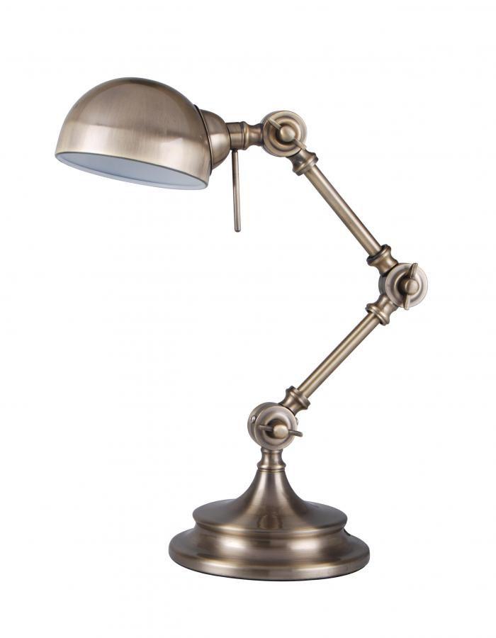 Светильник настольный БЮРОКРАТ BP-1 на подставке,  бежевый [bp-1/bronze]
