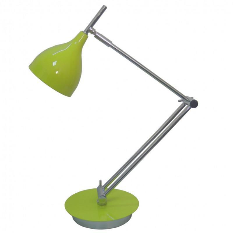 Светильник настольный БЮРОКРАТ BP-4 на подставке,  40Вт,  зеленый [bp-4/green]