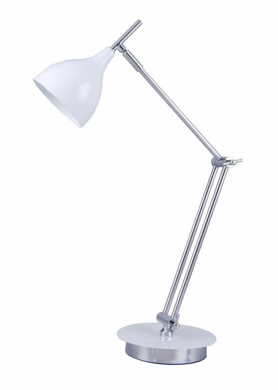 Светильник настольный БЮРОКРАТ BP-4 на подставке,  40Вт,  белый [bp-4/white]