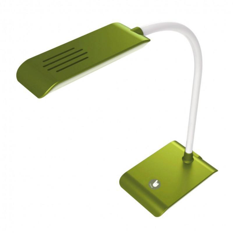 Светильник настольный БЮРОКРАТ DEL-002 на подставке,  5Вт,  зеленый [del-002lgreen]
