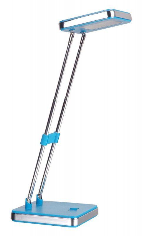 Светильник настольный БЮРОКРАТ DEL-006 на подставке,  3Вт,  голубой матовый [del-006blu/m]