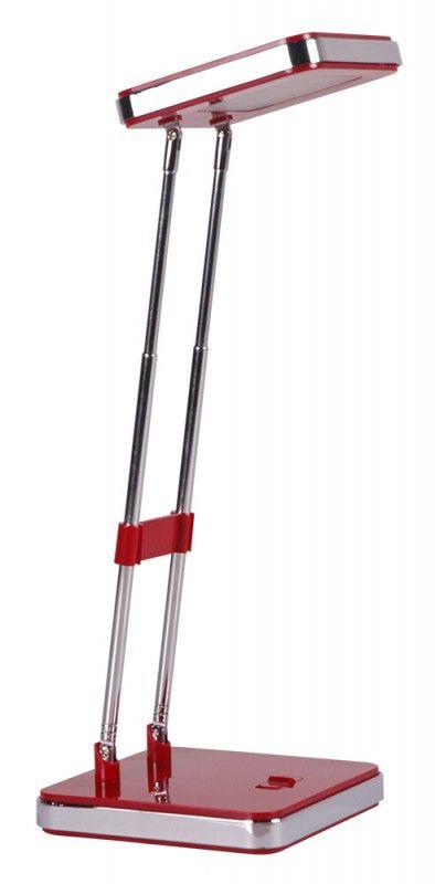 Светильник настольный БЮРОКРАТ DEL-006 на подставке,  3Вт,  красный матовый [del-006red/m]
