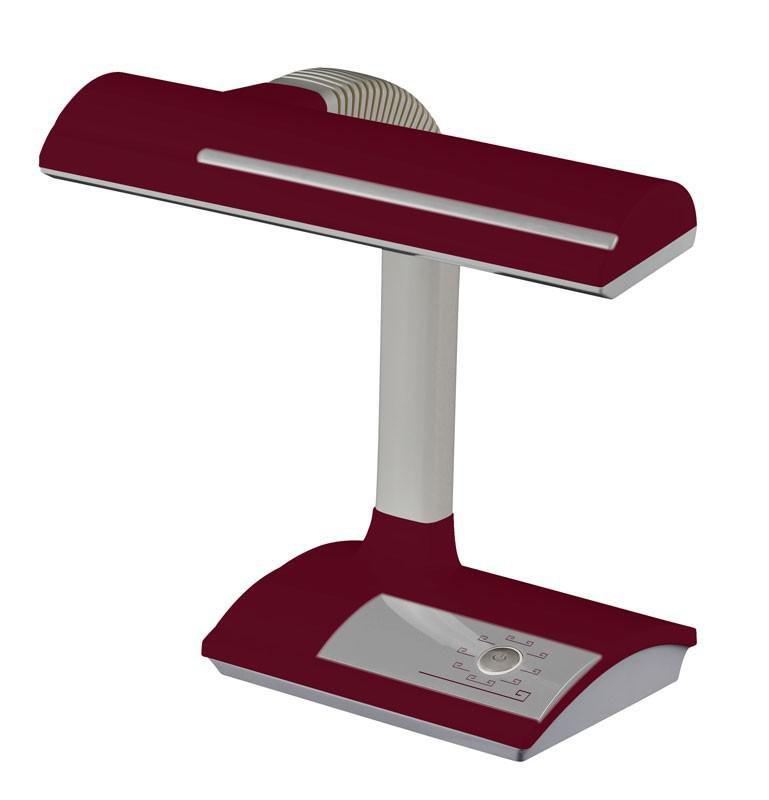 Светильник настольный БЮРОКРАТ DPL-005 на подставке,  18Вт,  бордовый [dpl-005bor]