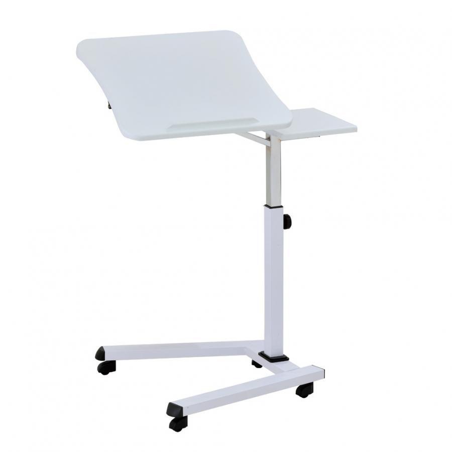 Стол для ноутбука  БЮРОКРАТ LT-001/WHITE,  МДФ,  белый
