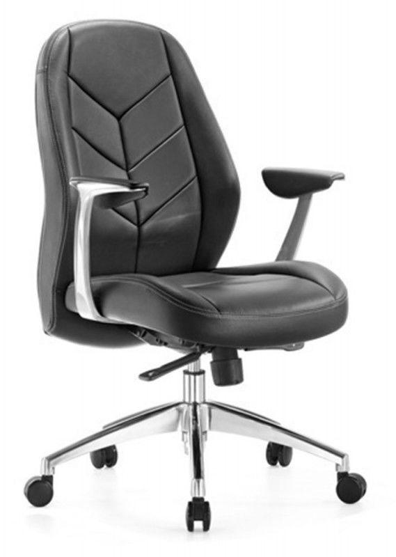 Кресло руководителя БЮРОКРАТ _Zen-Low, на колесиках, кожа, черный [_zen-low/black]