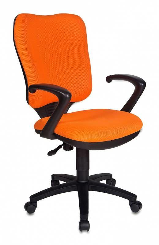 Кресло БЮРОКРАТ CH-540AXSN, на колесиках, ткань, оранжевый [ch-540axsn/tw-96-1]