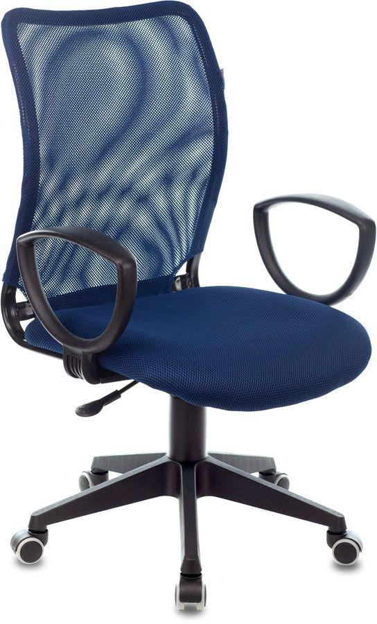 Кресло БЮРОКРАТ CH-599AXSN, на ножках, ткань, темно-синий [ch-599/db/tw-10n]