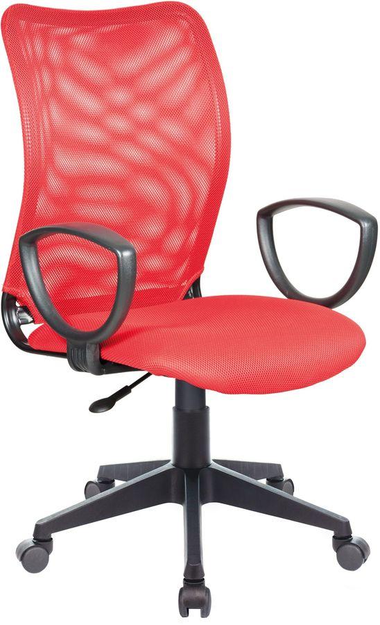 Кресло БЮРОКРАТ CH-599AXSN, на колесиках, ткань, красный [ch-599/r/tw-97n]