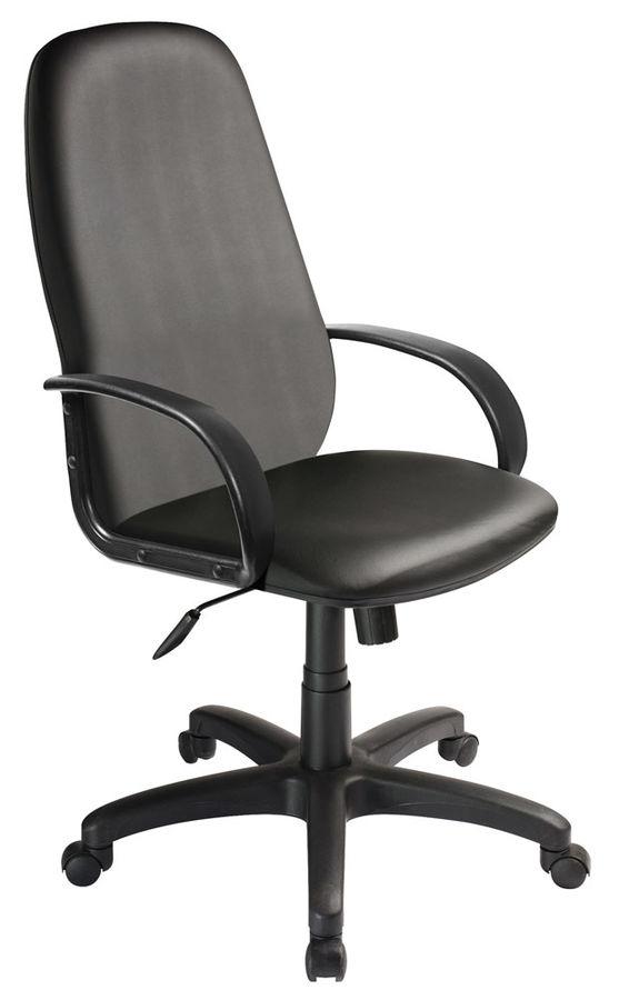 Кресло руководителя БЮРОКРАТ CH-808AXSN, на колесиках, искусственная кожа, черный [ch-808axsn/or-16]