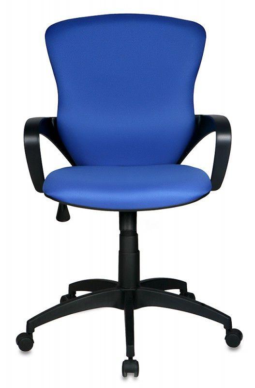 Кресло БЮРОКРАТ CH-818AXSN-Low, на колесиках, ткань, синий [ch-818axsn-low/15-10]