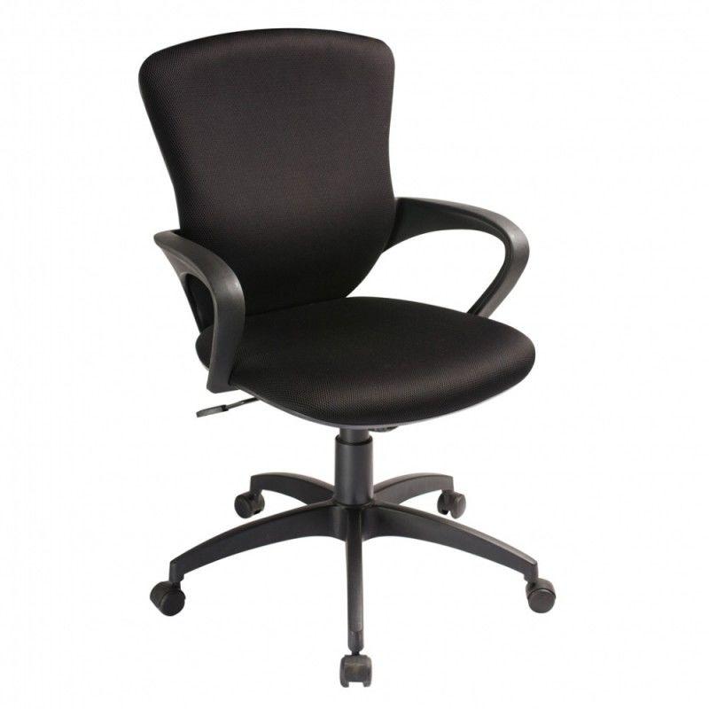 Кресло БЮРОКРАТ CH-818AXSN-Low, на колесиках, ткань, черный [ch-818axsn-low/15-21]
