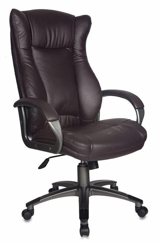 Кресло руководителя БЮРОКРАТ CH-879, на колесиках, искусственная кожа, темно-коричневый [ch-879dg/coffee]