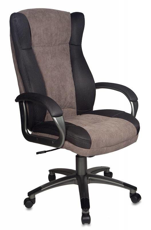 Кресло руководителя БЮРОКРАТ CH-879, на колесиках, ткань, коричневый [ch-879dg/f-c]