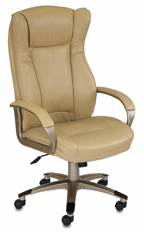Кресло руководителя БЮРОКРАТ CH-879, на колесиках, искусственная кожа, бежевый [ch-879y/beige]