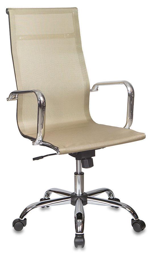 Кресло руководителя БЮРОКРАТ CH-993, на колесиках, сетка, золотистый [ch-993/gold]