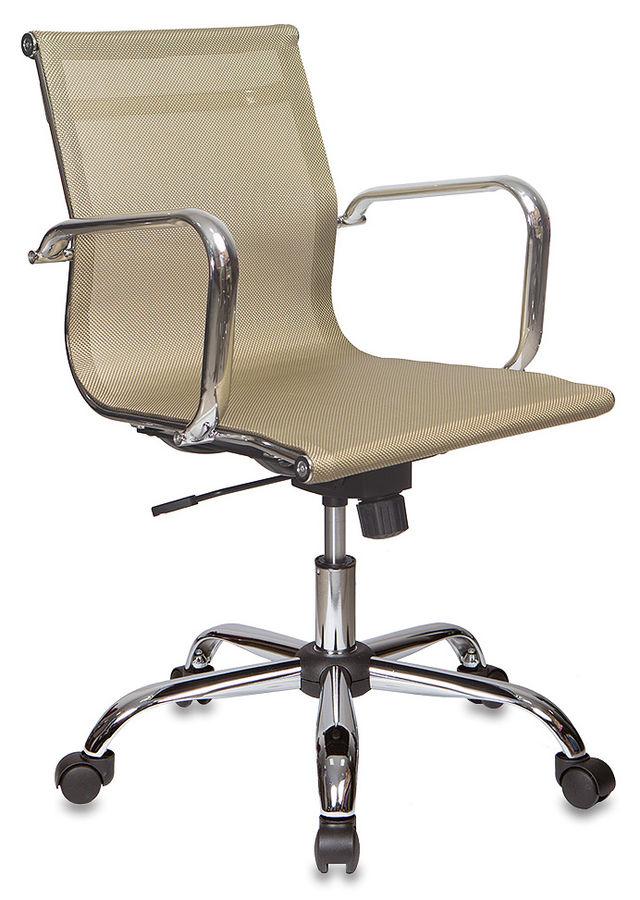 Кресло руководителя БЮРОКРАТ CH-993-Low, на колесиках, сетка, золотистый [ch-993-low/gold]