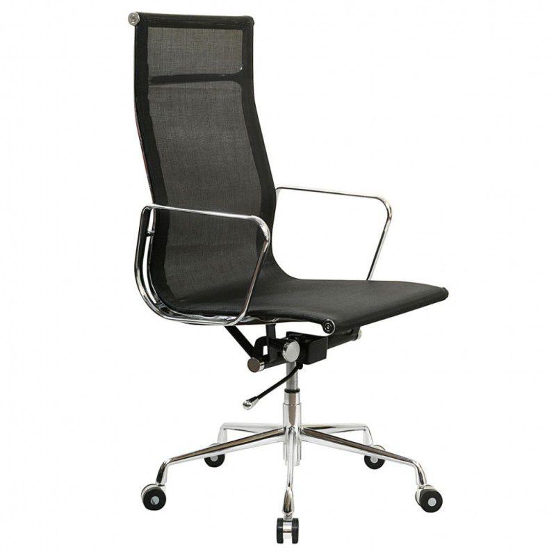 Кресло руководителя БЮРОКРАТ CH-996, на колесиках, сетка, черный [ch-996/black]
