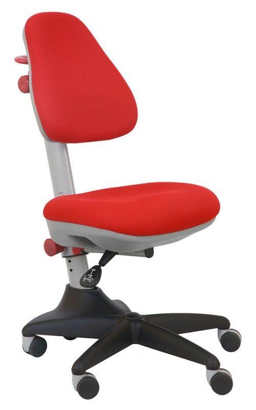 Кресло детское БЮРОКРАТ KD-2, на колесиках, ткань, красный [kd-2/r/tw-97n]