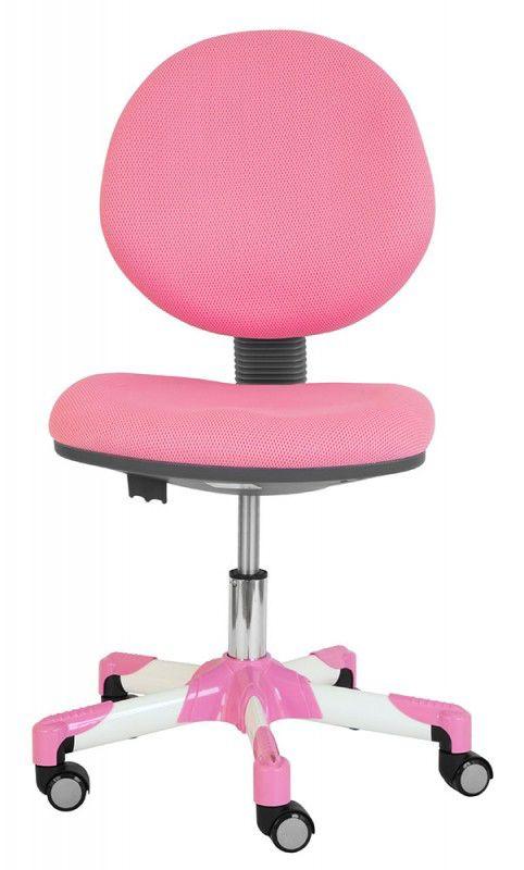 Кресло детское БЮРОКРАТ KD-6, на колесиках, ткань, розовый [kd-6/pk/tw-13a]