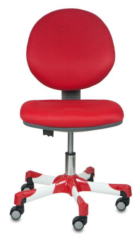 Кресло детское БЮРОКРАТ KD-6/Rd/TW-97N, на колесиках, ткань, красный