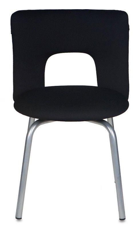 Стул БЮРОКРАТ KF-1, на ножках, ткань, черный [kf-1/27-28]