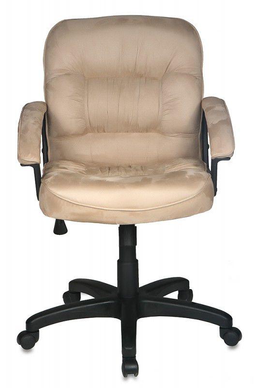 Кресло руководителя БЮРОКРАТ T-9908AXSN-Low, на колесиках, микрофибра, бежевый [t-9908axsn-low/mf105]