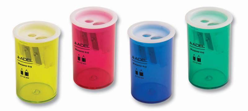 Точилка для карандашей ADEL 426-0619-000  ручная,  ассорти