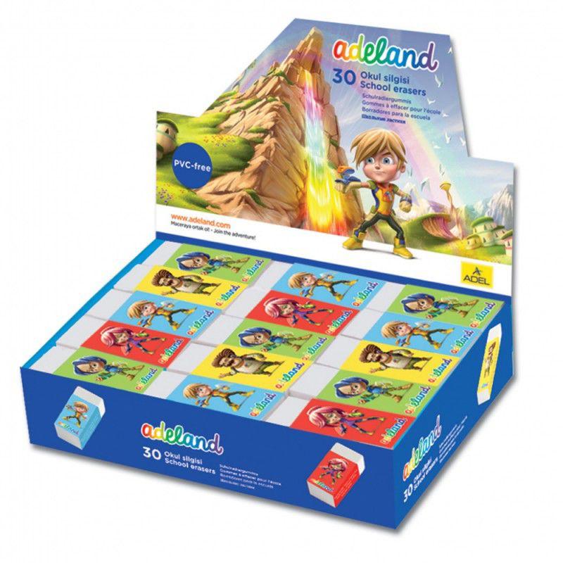Ластик Adel ADELAND 227-0718-130 45x19x12мм каучук индивидуальная картонная упаковка