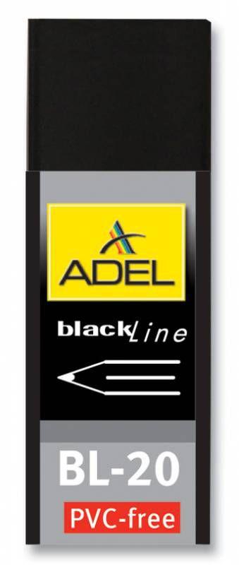 Ластик Adel BLACKLINE 227-0789-000 60x22x12мм каучук черный индивидуальная картонная упаковка + плен