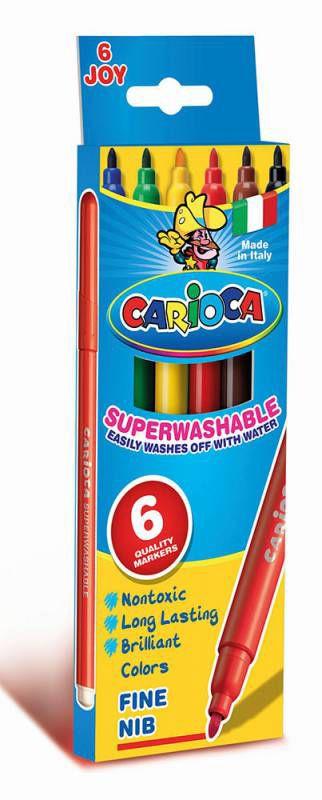 Фломастеры Carioca JOY 40613 6цв. коробка с европодвесом