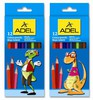 Карандаши цветные Adel Colour 211-2315-007 шестигран. 3мм 12цв. 2 дизайна упаковки коробка/европод.  вид 1