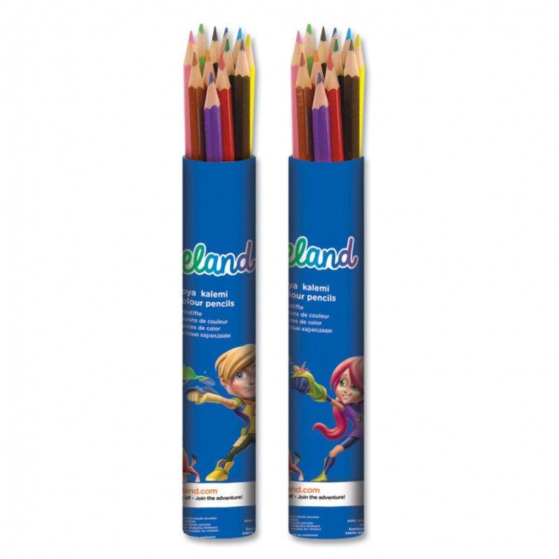 Карандаши цветные Adel ADELAND 211-2315-103 шестигран. 3мм 12цв. алюм.тубус