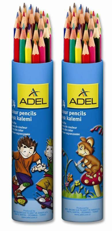 Карандаши цветные Adel Colour 211 2360 003 3мм 24цв. алюм.тубус