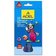 Карандаши цветные Adel JUMBO 211-7510-000 трехгран. 5.4мм 12цв. коробка/европод.