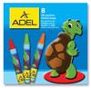 Масляная пастель Adel Colour 228-0811-000 круглые 8цв.д.10мм картон.кор.