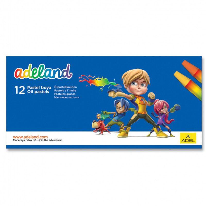 Мелки масляной пастели Adel ADELAND 428-0837-100 шестигранные 11.5мм 12цв. карт.коробка