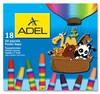 Мелки масляной пастели Adel Colour 428-0857-000 шестигранные 11.5мм 18цв. карт.коробка